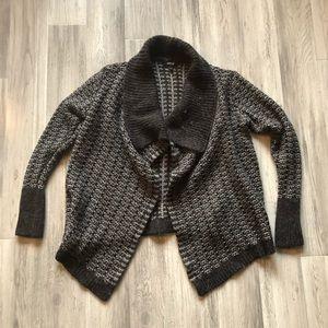 Apt. 9 Wool Blend Gray Open Cardigan